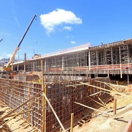 A obra no terreno de 80 mil metros quadrados, que fica localizado ao lado da rodoviária Foto: Divulgação