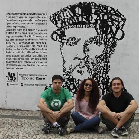 Leopoldo Lima, Carol Andrade e Rubens Müller integram o coletivo Foto: Guilherme Leporace / Agência O Globo