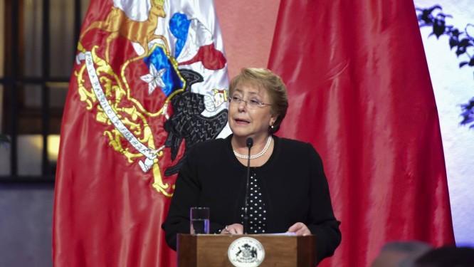 Bachelet enfrenta momento político duro no Chile Foto: VLADIMIR RODAS / AFP