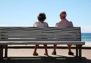 Taxa de pobreza crescente entre idosos é usada para explicar aumento de roubo pelos mais velhos Foto: Brendon Thorne / Bloomberg