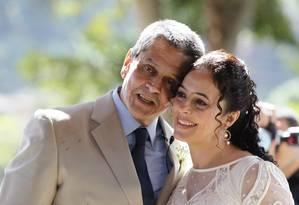 O ex-deputado Roberto Jefferson (PTB-RJ), delator do mensalão, se casa com a enfermeira Ana Lúcia Novaes Foto: Marcelo Carnaval / Agência O Globo