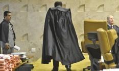 O ex-presidente do Supremo Tribunal Federal Joaquim Barbosa Foto: Agência Brasil
