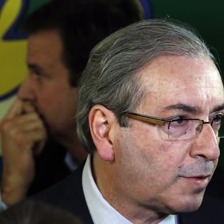 Eduardo Cunha participou de evento do Comitê Rio 2016 com o prefeito Eduardo Paes Foto: Gustavo Miranda / Agência O Globo