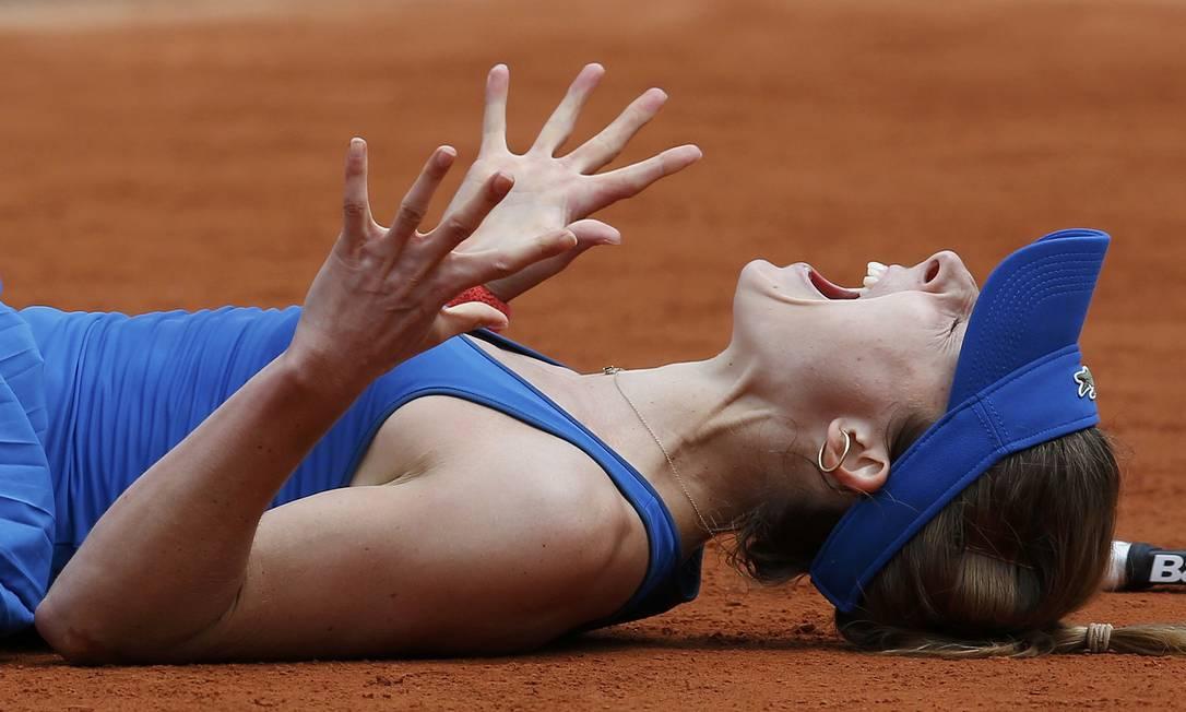 A francesa vibrou demais com a vitória JEAN-PAUL PELISSIER / REUTERS