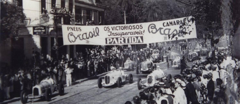 As provas do Circuito da Gávea, entre 1933 e 1935 Foto: Reprodução