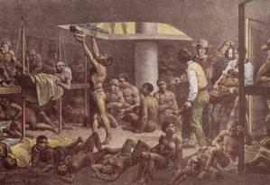 Apesar do início miserável, mais de 600 escravos conseguiram comprar empregados Foto: Reprodução de tela de Johann Moritz Rugendas