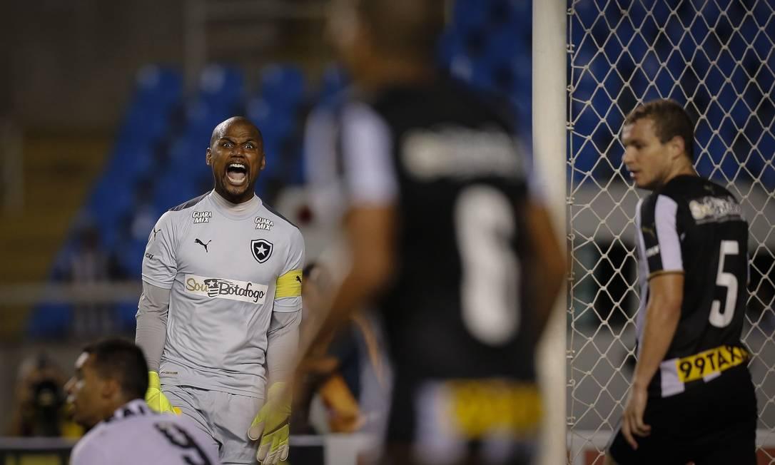 Jefferson (em foto de arquivo) não gostou da atuação do Botafogo contra o Bragantino Alexandre Cassiano / Agência O Globo