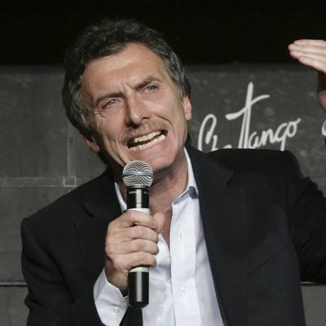 Mauricio Macri, prefeito de Buenos Aires Foto: Agência O Globo