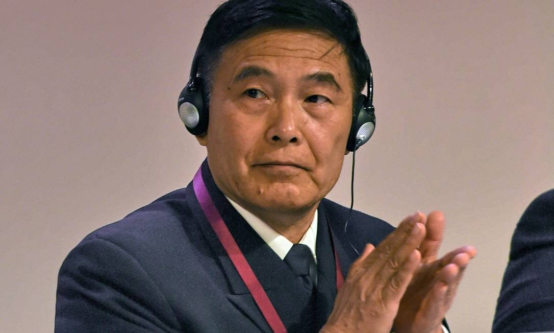 Almirante chinês Sun Jianguo, durante encontro em Cingapura. vice-chefe do Estado Maior do Exército afirmou que reivindicações territoriais chinesas são