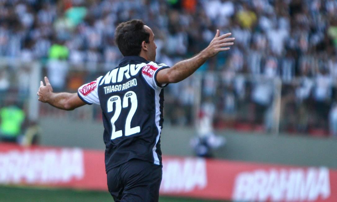 Thiago Ribeiro marcou dois gols no primeiro tempo BRUNO CANTINI / Atlético-MG