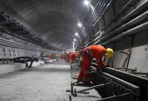 Além da linha 4 do metrô, Rio precisará investir mais em transporte por trilhos Foto: Felipe Hanower / Felipe Hanower/29-5-2015