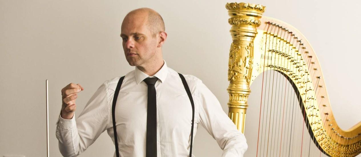 Na cidade para o Rio Harp Festival, o músico holandês Thorwald Jørgensen conta que não se sentiu inseguro em momento algum Foto: Fábio Seixo / Agência O Globo