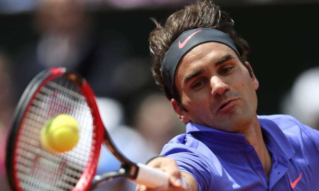 O tenista suíço Roger Federer, venceu o francês Gael Monfils por 6-3, 4-6, 6-4, 6-1 David Vincent / AP