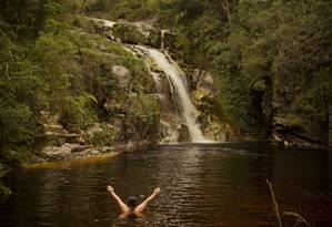 Cachoeira dos Macacos é uma das quedas dágua favoritas do público Foto: Guilherme Leporace / Agência O Globo