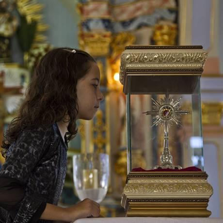 Igreja Matriz de São João Nepomuceno recebeu no dia 15 relíquia com restos mortais do santo pelo bicentenário da cidade Foto: Guilherme Leporace / Agência O Globo