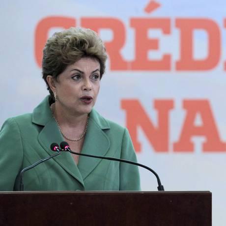 A presidente Dilma Rousseff após anúncio do plano safra do agronegócio Foto: Jorge William / Agência O Globo