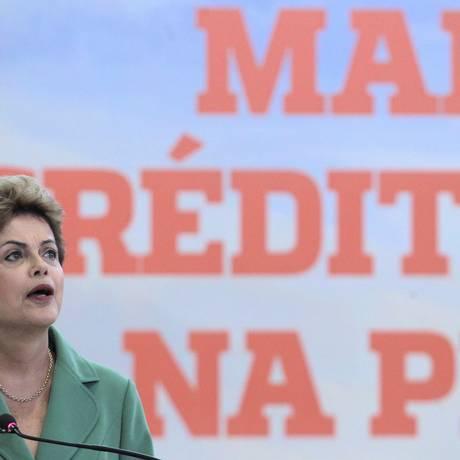 A presidente Dilma Rousseff participa da cerimônia de Lançamento do Plano Agrícola e Pecuário 2015/2016 Foto: Jorge William / Agência O Globo