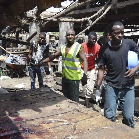 Ataque destruiu açougue da Maiduguri Foto: Jossy Ola / AP