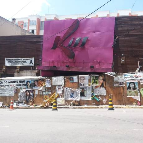 A porta da boate Kiss um ano depois da tragédia Foto: Juliano Mendes / Agência O Globo