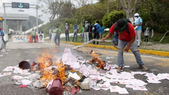 Clima antes de eleição no México é tenso Foto: JESUS GUERRERO / AFP