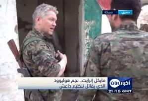 O ator britânico Michael Enright dá entrevista ao canal Al Aan TV Foto: Reprodução YouTube