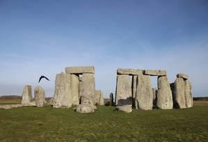 Stonehenge, vista de dentro Foto: Eduardo Maia / Agência O Globo