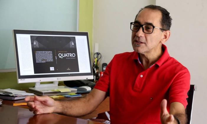 """O ex-presidente da Câmara dos Deputados lançou o livro """"Quatro e outras lembranças"""", poemas feitos durante um ano que esteve preso Foto: Ailton de Freitas / O Globo"""