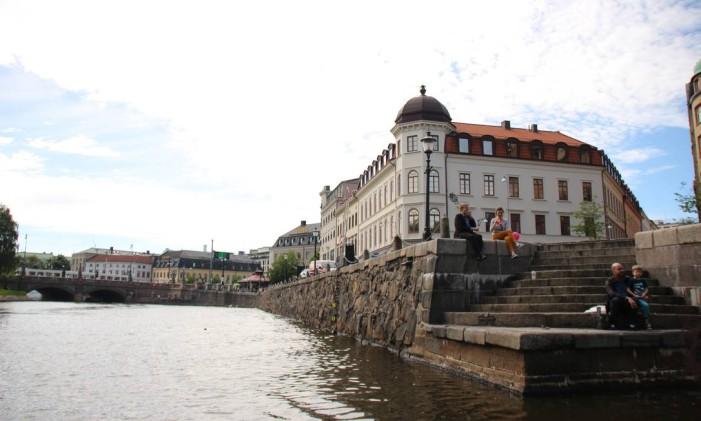 Verão em Gotemburgo, na Suécia Foto: Eduardo Maia / Agência O Globo