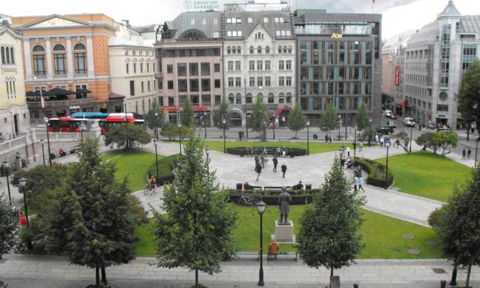 Ruas do centro de Oslo, na Noruega Foto: Luisa Valle / Agência O Globo