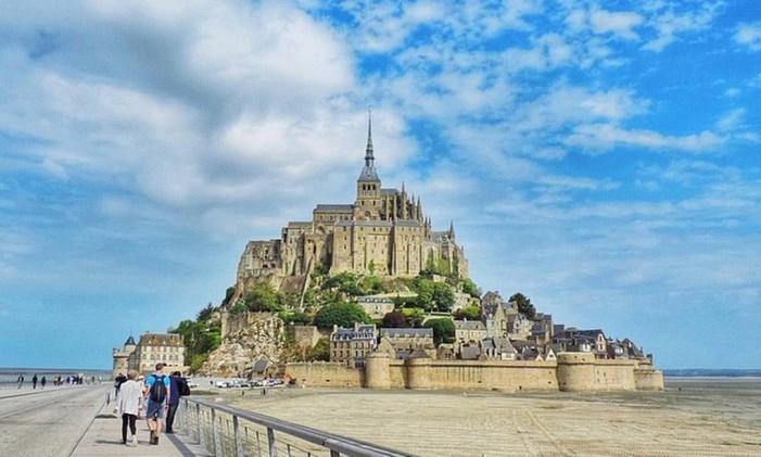 Mont Saint-Michel, na Normandia, França Foto: Foto: @franlanjoni / Instagram