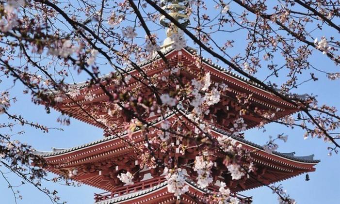O Templo Sens?-ji, em Tóquio, no Japão Foto: @karol.joao / Instagram