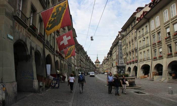 A cidade histórica de Berna, capital da Suíça Foto: Eduardo Maia / Agência O Globo