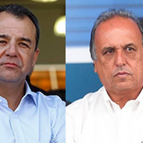 Ex-governador Sérgio Cabral e o governador do Rio, Luiz Fernando Pezão Foto: O Globo