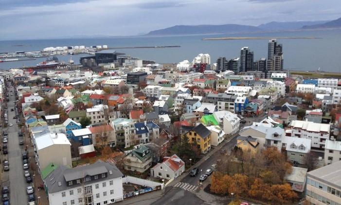 Cidade de Reykjavik, na Islândia Foto: Ricardo Largman / Agência O Globo