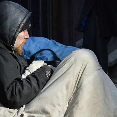 Sem-teto em Londres: polêmica em curso Foto: Toby Melville / Reuters