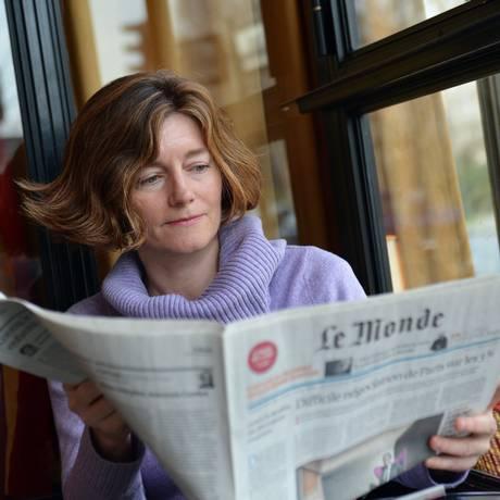 Natalie Nougayrede, jornalista francesa, primeira mulher a dirigir o 'Le Monde' em foto de 2013 Foto: MIGUEL MEDINA / Agência O Globo