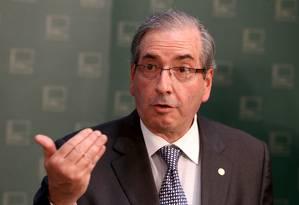 O presidente da Câmara dos Deputados, Eduardo Cunha (PMDB-RJ) Foto: Ailton de Freitas / Arquivo O Globo 01/06/2015