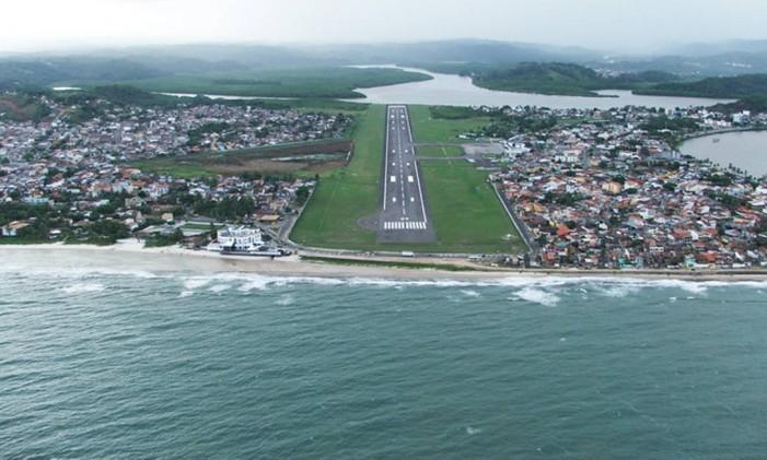 A pista do Aeroporto de Ilhéus/Bahia - Jorge Amado Foto: Divulgação / Infraero