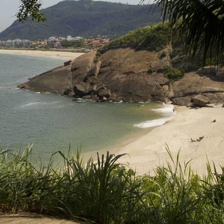 Vista de onde ficará a base da Guarda Ambiental, na Praia do Sossego Foto: Bia Guedes