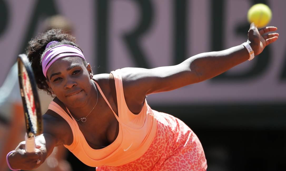 Serena venceu Safarova por 2 sets a 1, com parciais de 6/3, 6/7 (2) e 6/2 Francois Mori / AP