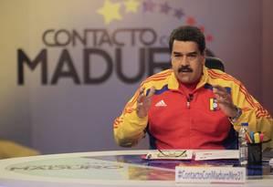 Na TV. Maduro discursa em programa semanal 'Em contato com Maduro' Foto: REUTERS/02-06-2015 / .