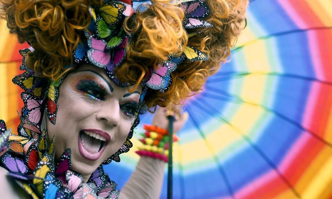 Ajuste fiscal: em sua 19ª edição, Parada Gay tem menos verba da Prefeitura de São Paulo e ausência da CUT, que reclama de taxas abusivas Foto: Miguel Schincariol / AFP