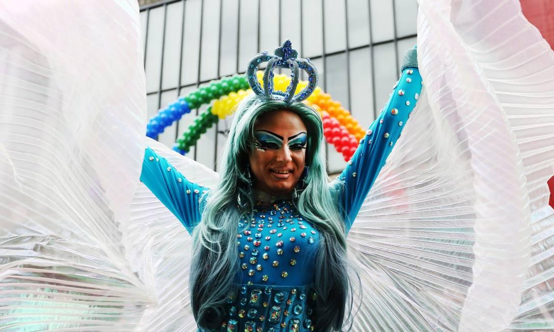 Passeata anual, a Parada Gay de São Paulo recebe transexuais, gays e lésbicas de todo o país Fernando Donasci / Agência O Globo