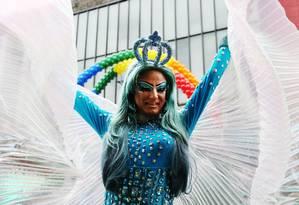 Passeata anual, a Parada Gay de São Paulo recebe transexuais, gays e lésbicas de todo o país Foto: Fernando Donasci / Agência O Globo