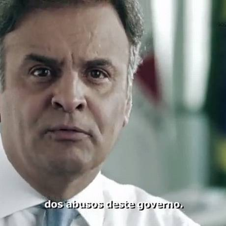 Em propaganda de TV, Aécio cobra esclarecimentos sobre casos de corrupção Foto: Reprodução/YouTube