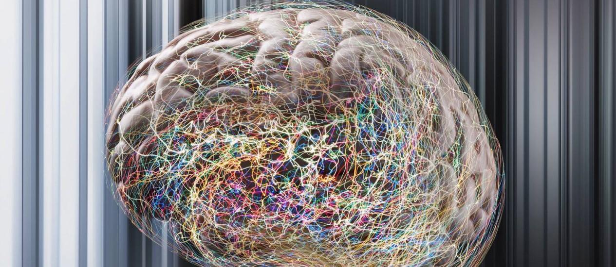 Ilustração do cérebro humano: estudos mostram que mecanismo natural de esquecimento ajuda a dar lugar a novas informações Foto: John Lund/ Latinstock