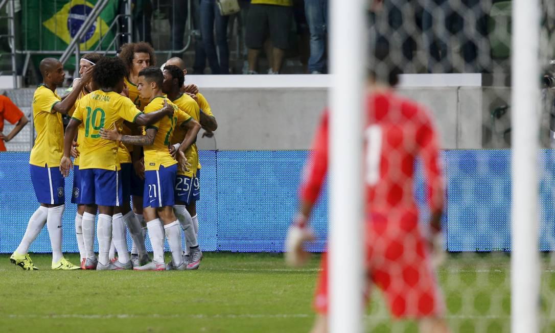 Brasil e México estão na Copa América do Chile, mas em grupos diferentes PAULO WHITAKER / REUTERS