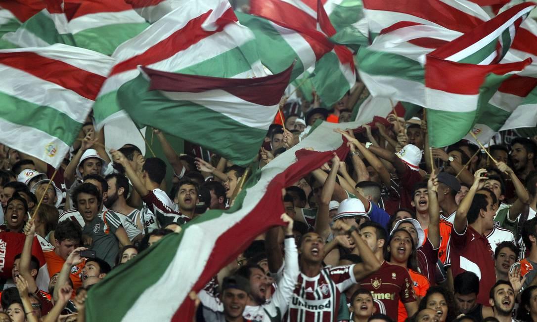 A torcida do Fluminense no Maracanã no jogo contra o Sport Cezar Loureiro / Agência O Globo