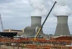 Usina Nuclear em construção em Augusta, no estado americano de Geórgia Foto: John Bazemore / AP
