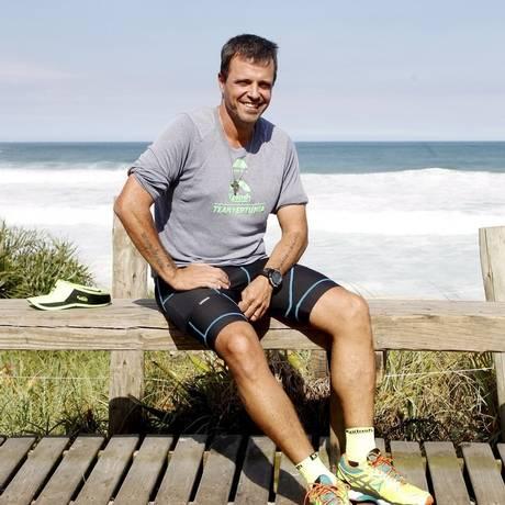 O atleta chegou a pesar 98 quilos antes de passar a correr Foto: Eduardo Naddar